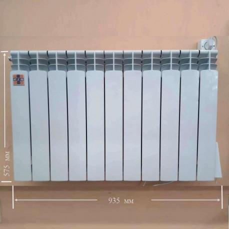 Алюминиевый электрорадиатор с термоконторллером экономичный на 11 секций