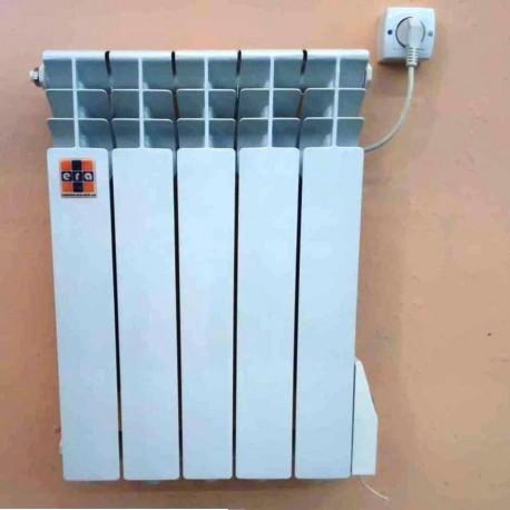 """Алюминиевый электрорадиатор """"ЭРА+"""" на 5 секций 500 Ватт."""