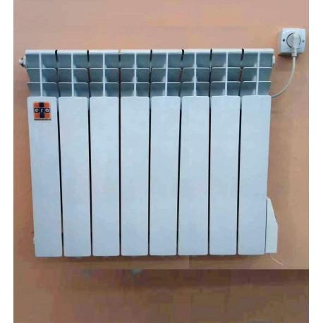 """Алюминиевый электрорадиатор """"ЭРА+"""" с термопрограмматором 900 Ватт 8 секций до 15 м. кв."""