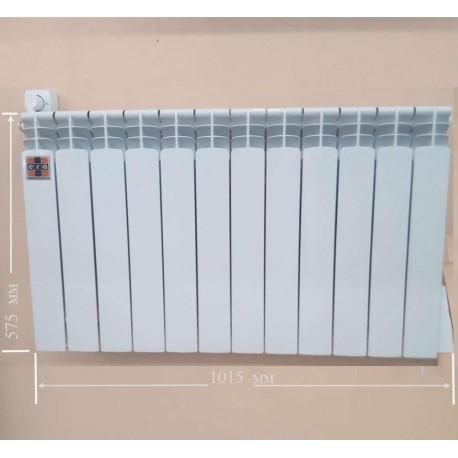 Алюминиевый электрорадиатор с термоконторллером ЭРА на 12 секций