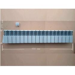 """Алюмінієвий електрорадітор """"АВТОР"""" компакто на 18 секцій 1300 Ватт."""
