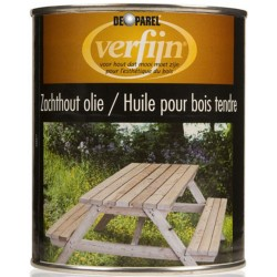 Масло для мягкого дерева Verfijn Zachthout olie 750 мл.