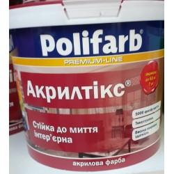 Краска Акрилтикс Полифарб  стойкая к мытью интерьерная 7 кг