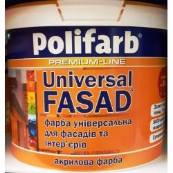 Универсалфасад краска универсальная для фасадов и интерьеров Polifarb для тонирования 3 л.