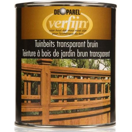 Пропитка на основе масла для деревяного забора Verfijn Tuinbeits  Bruin коричневая 750 мл.