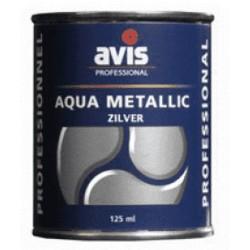 Фарба-лак металік Avis Aqua Metalics Zilver