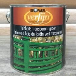 Зеленая морилка для дерева Verfijn Tuinbeits Groen 2,5 Л.