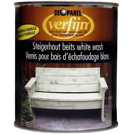 Морилка белая наружная для дерева Verfijn Staigerhout beits  белая 750 мл.