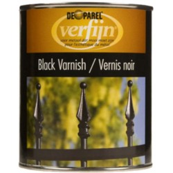 Черная краска по металлу Verfijn Black Varnish 750 ml.