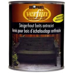 Восковая морилка для дерева наружная Verfijn Staigerhout beits  темно серая 750 мл.