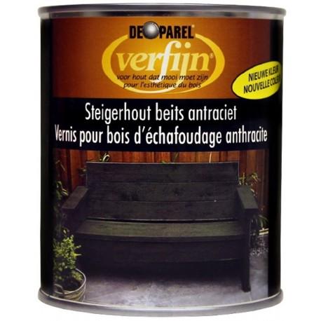 Восковая морилка для дерева наружная Verfijn Staigerhout beits  антрацит 750 мл.