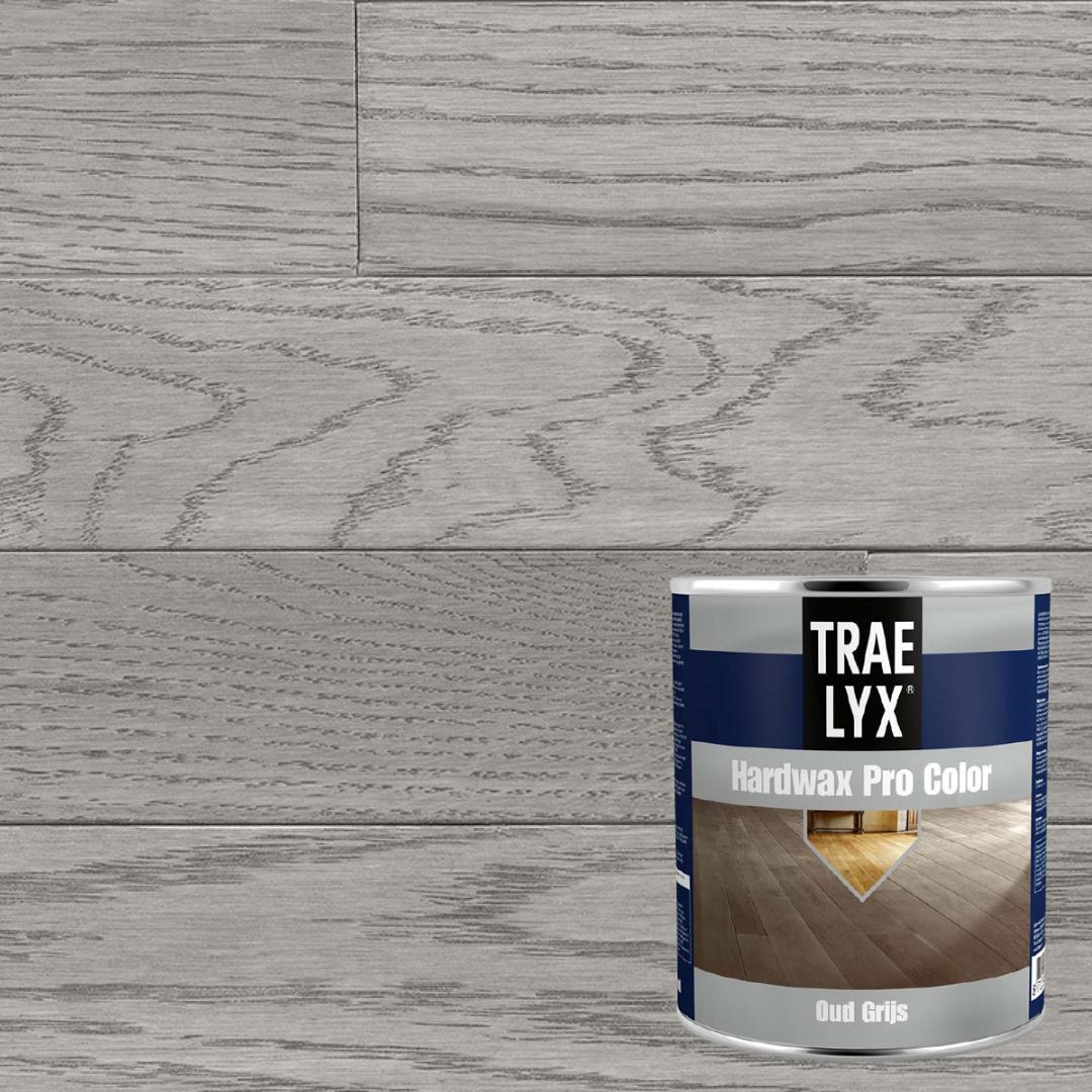 Серый пол покрашен серым масло воском Трае Люкс