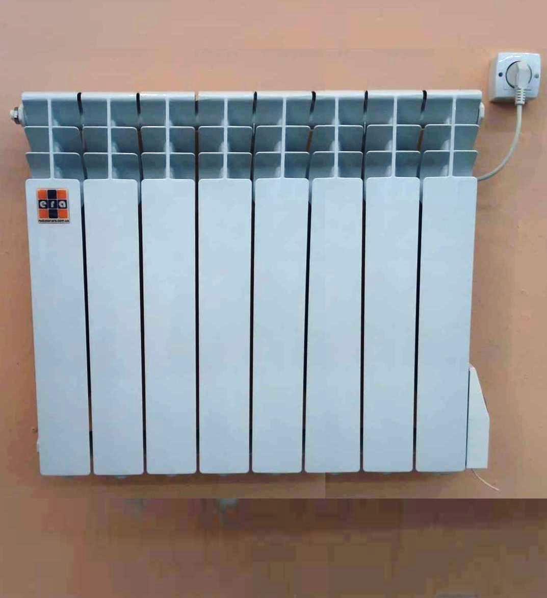Экономный электрорадиатор на 8 алюмитиевых секций мощностью до 1 КВт