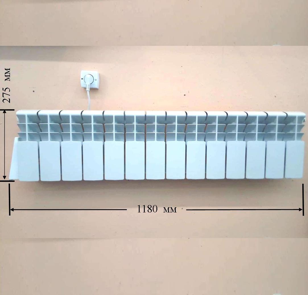 Низкий алюминиевый электрорадиатор Эра компакто для витражных окон в Киеве