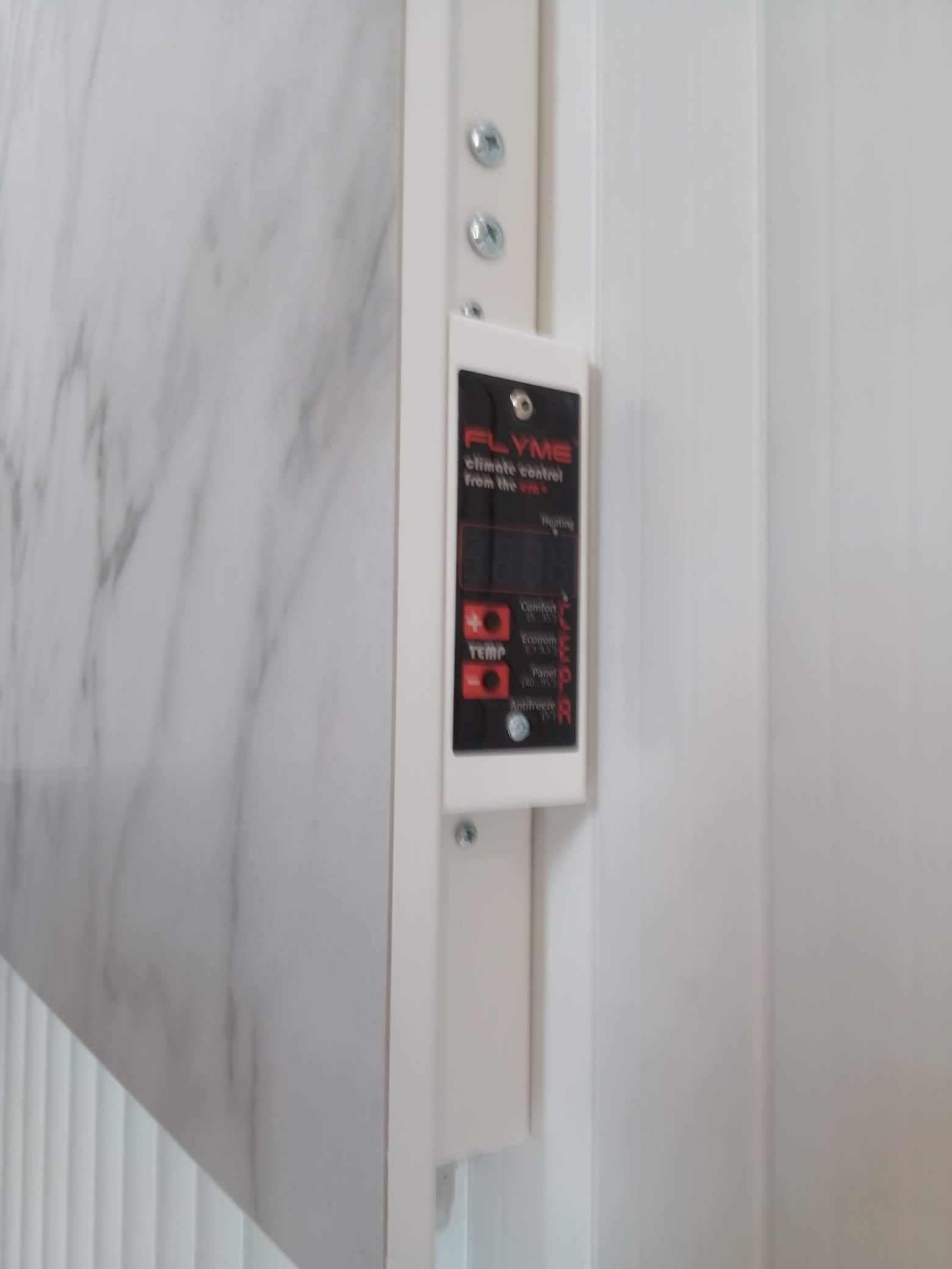 Термопрограмматор с суточной программой температуры в комнате для електрической керамической панели Флайм белого цвета